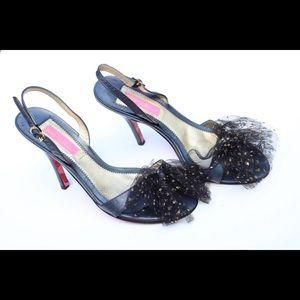 Betsey Johnson sling back heels